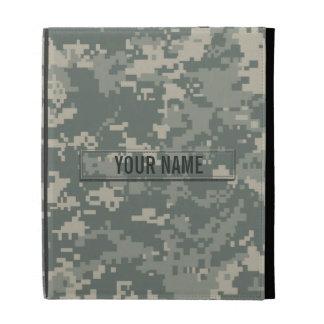 Army ACU Camouflage Customizable iPad Folio Covers