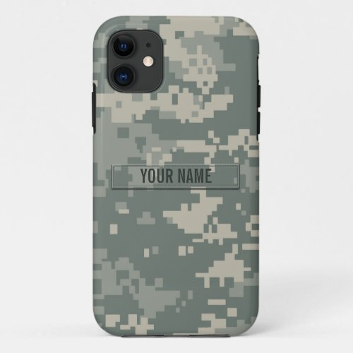 Army ACU Camouflage Customizable Phone Case