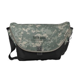 Army ACU Camouflage Customizable Courier Bag