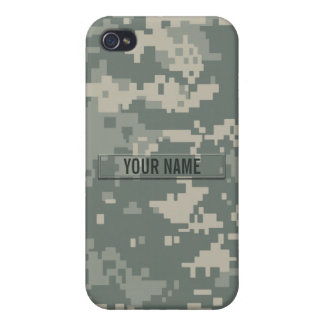 Army ACU Camouflage Customizable Cover For iPhone 4