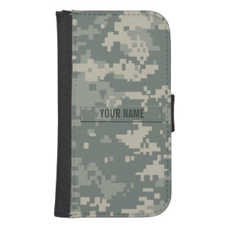 Army ACU Camouflage Customizable Galaxy S4 Wallet Case