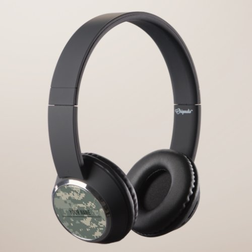 Army ACU Camouflage Customizable Headphones
