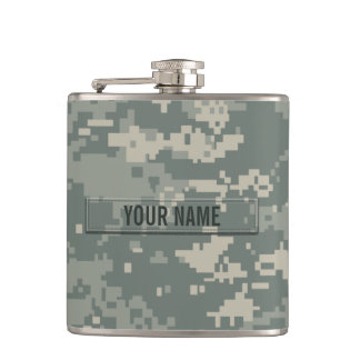 Army ACU Camouflage Customizable Hip Flask