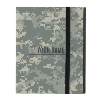 Army ACU Camouflage Customizable iPad Folio Case