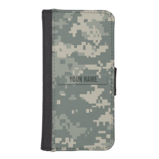 Army ACU Camouflage Customizable iPhone SE/5/5s Wallet Case