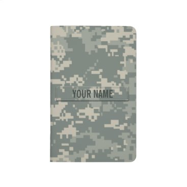 staticnoise Army ACU Camouflage Customizable Journal