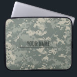 "Army ACU Camouflage Customizable Laptop Sleeve<br><div class=""desc"">The digital camouflage pattern as seen on modern army soldiers&#39; uniforms.</div>"