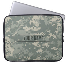 Army Acu Camouflage Customizable Laptop Sleeve at Zazzle