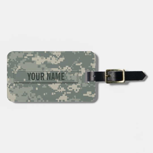 Army ACU Camouflage (Customizable) Luggage Tag