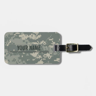 Army ACU Camouflage Customizable Luggage Tag