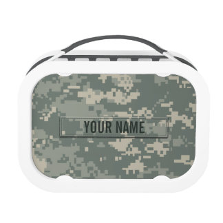 Army ACU Camouflage Customizable Lunch Box