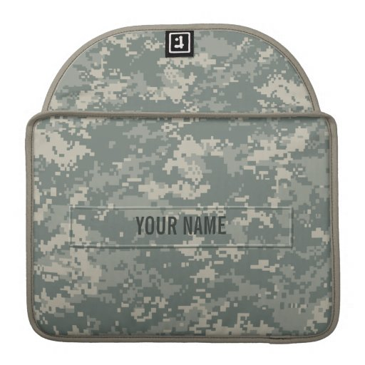 Army ACU Camouflage (Customizable) MacBook Pro Sleeves