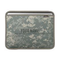 Army ACU Camouflage Customizable MacBook Sleeve