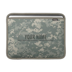 Army Acu Camouflage Customizable Macbook Sleeve at Zazzle
