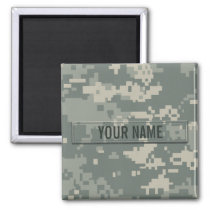 Army ACU Camouflage Customizable Magnet