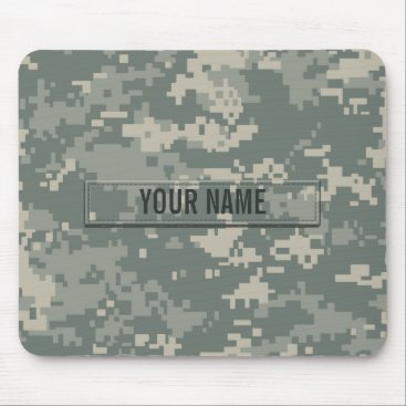 staticnoise Army ACU Camouflage Customizable Mouse Pad