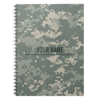 Army ACU Camouflage Customizable Note Books