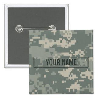 Army ACU Camouflage Customizable Pinback Button