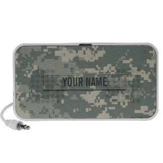 Army ACU Camouflage Customizable Portable Speaker