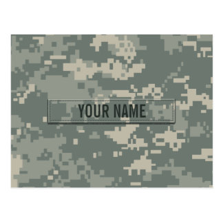 Army ACU Camouflage Customizable Postcard