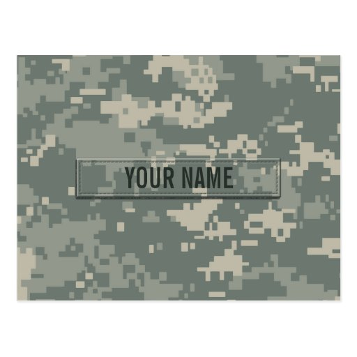 Army ACU Camouflage Customizable Post Cards