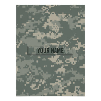 Army ACU Camouflage Customizable Poster