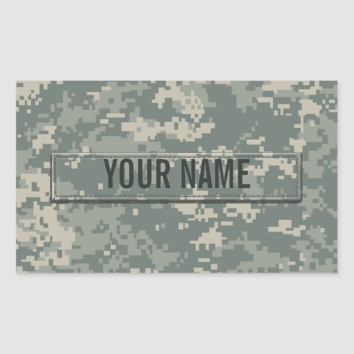 Army ACU Camouflage (Customizable) Rectangular Sticker