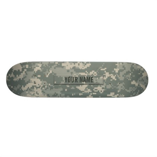 Army ACU Camouflage Customizable Custom Skate Board
