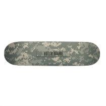 Army ACU Camouflage Customizable Skateboard Deck