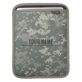 Army ACU Camouflage Customizable Sleeve For iPads