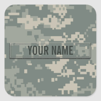 Army ACU Camouflage Customizable Square Sticker