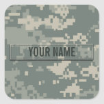 Army ACU Camouflage Customizable Square Stickers