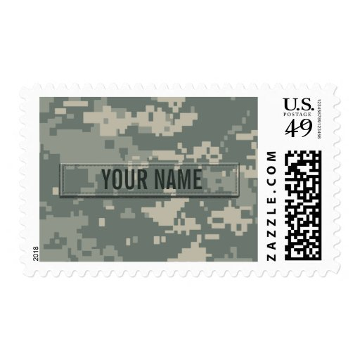 Army ACU Camouflage Customizable Stamp