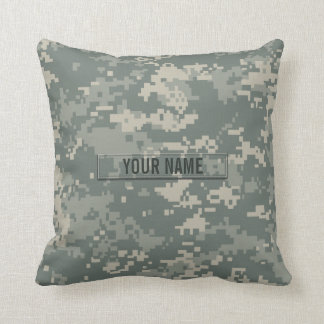 Army ACU Camouflage Customizable Throw Pillow