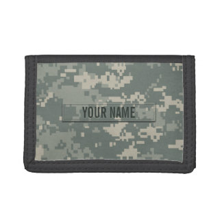 Army ACU Camouflage Customizable Trifold Wallets