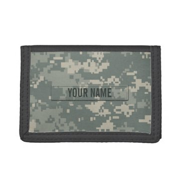 staticnoise Army ACU Camouflage Customizable Trifold Wallets