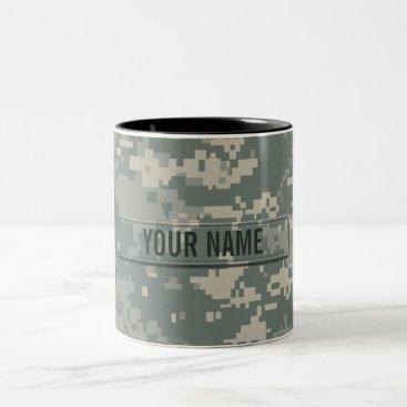 staticnoise Army ACU Camouflage Customizable Two-Tone Coffee Mug