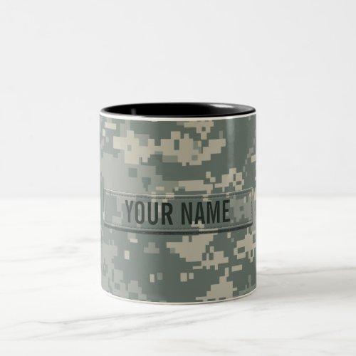 Army ACU Camouflage Customizable Two_Tone Coffee Mug