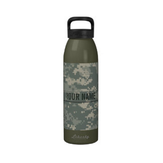 Army ACU Camouflage Customizable Drinking Bottles