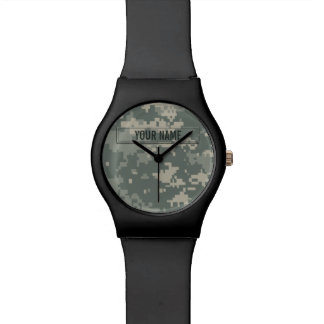 Army ACU Camouflage Customizable Wrist Watch