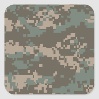 Army ACU Camouflage Square Sticker