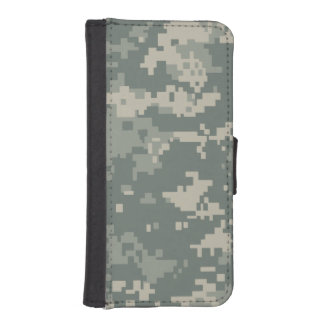 Army ACU Camouflage Wallet Phone Case For iPhone SE/5/5s