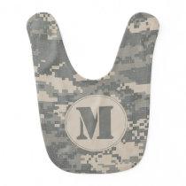 ARMY ACU Digital Camo Camouflage Pattern Baby Bib