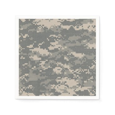 AnnLeeDesigns ARMY ACU Digital Camo Camouflage Pattern Napkins