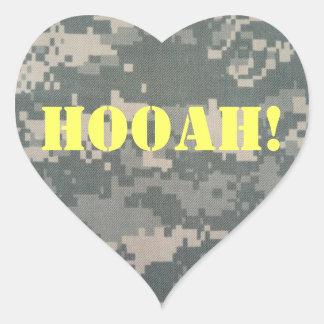 Army ACU HOOAH! HEART Heart Sticker