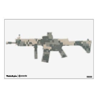 Army ACU Machine Gun Wall Sticker