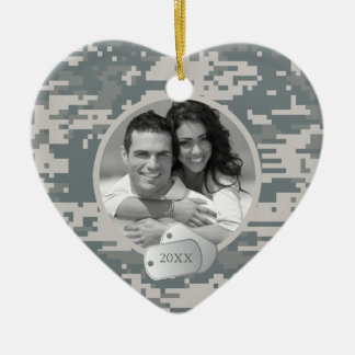 Army ACUs and Dog Tags Christmas Ornament