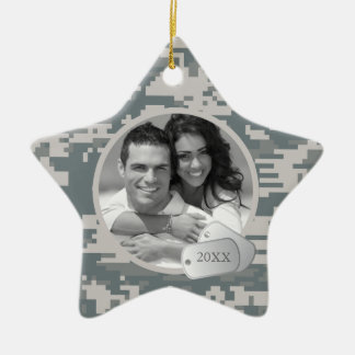 Army ACUs and Dog Tags Ornaments