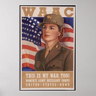 Army Air Corp de las mujeres Poster