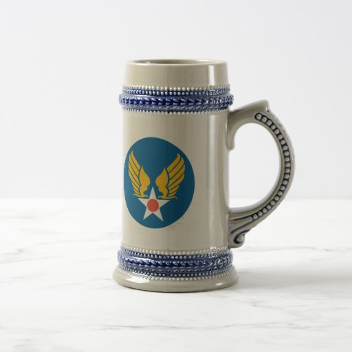 Army Air Corps Shield Beer Stein